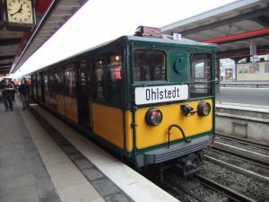 Historischer U-Bahn-Wagen in Barmbek
