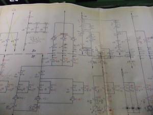 Schaltplan der elektromechanischen Stellwerke