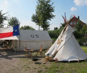 Im Lager der Texaner