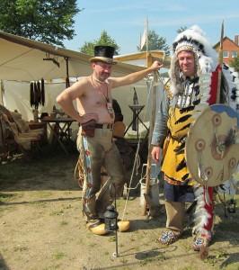 Ureinwohner im Zeltlager.