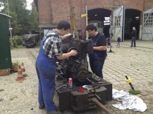 Motorarbeiten an der OME 117f