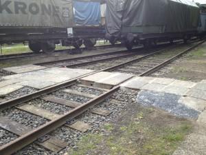 Bahnübergang Gleis 11 und 12