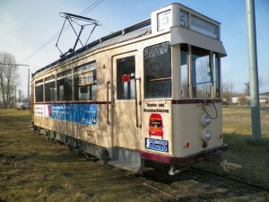 Wagen 202 mit neuer Werbung