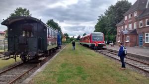 Anschluss im Bahnhof Schönberg