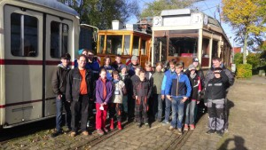 VVM, 23.10.2015: Teilnehmer der Straßenbahn-Jugendwoche