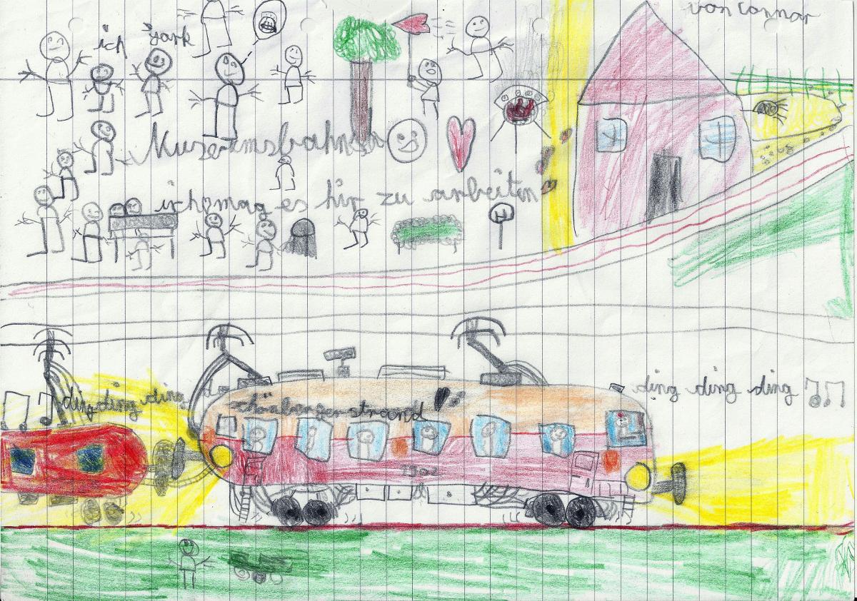 Connors Bild von der Straßenbahn