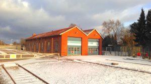 In der Abendsonne strahlt auch unser Lokschuppen in Schönberg, auch nach Wechsel der Pächter der Infrastruktur herrscht winterliche Betriebsruhe.