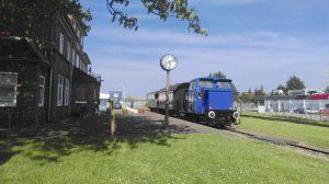 Unser Museumszug macht Halt im Bahnhof Schönberg